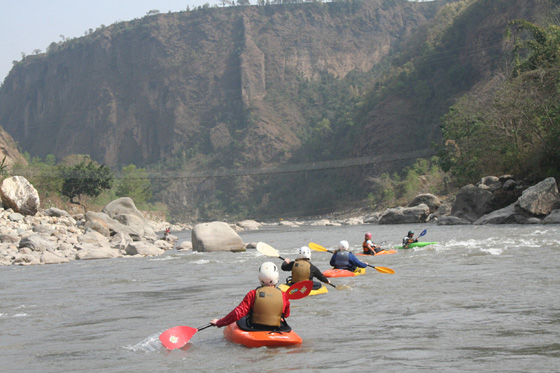 Kayaking Nepal Kali Gandaki Start