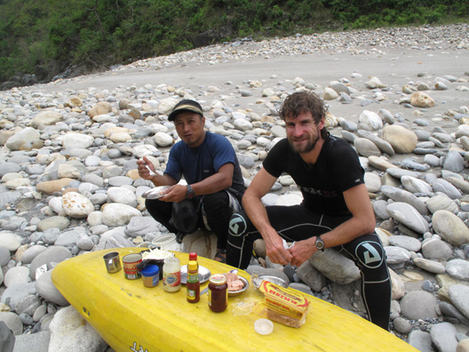 Kayaking Nepal Well Earned Lunch