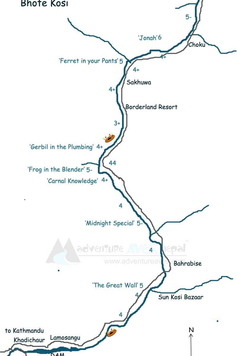 bhotekosi-map